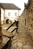 城堡在Lubovna围住 免版税库存图片
