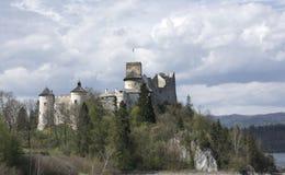 城堡在Nidzica 免版税图库摄影
