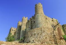 城堡在Obidos,葡萄牙 免版税库存图片