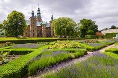 城堡在Tivoli庭院里 库存图片