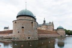 城堡在Vadstena瑞典 图库摄影