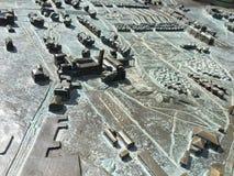 城堡地图 免版税库存照片