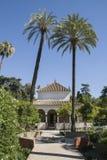 城堡城堡堡垒原始庭院摩尔人宫殿皇家塞维利亚西班牙 库存图片