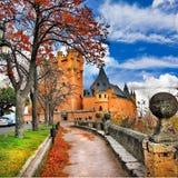 城堡城堡,塞戈维亚 免版税库存图片