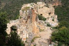 城堡城堡,以色列废墟  免版税库存图片
