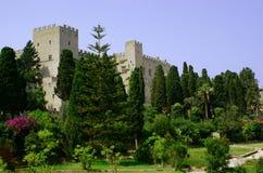 城堡城市罗得斯 库存照片