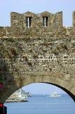 城堡城市罗得斯 免版税库存图片