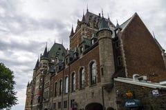 城堡城市魁北克 图库摄影