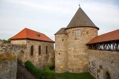 城堡城镇黑尔茨贝尔格,德国,黑森。 免版税图库摄影