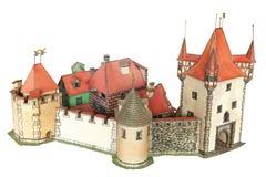 城堡城镇 库存照片