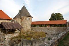 城堡城镇Herzberg,德国,黑森。 库存图片