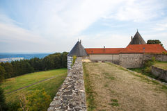 城堡城镇Herzberg,德国,黑森。 免版税库存照片