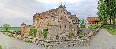 城堡城镇Stettenfels 免版税图库摄影