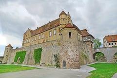 城堡城镇Stettenfels 库存图片