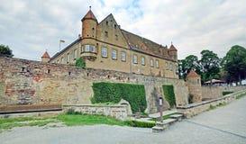 城堡城镇Stettenfels 免版税库存照片