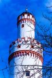 城堡塔在巴特洪堡,在法兰克福附近,德国 免版税库存图片