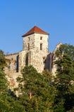城堡塔在Tenczynek,波兰 库存图片