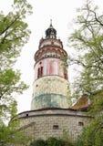 城堡塔捷克克鲁姆洛夫 库存图片