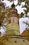 城堡塔捷克旅行 库存图片