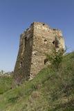 城堡塔的废墟 库存照片