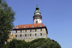 城堡塔-捷克克鲁姆洛夫 免版税库存照片