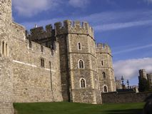 城堡墙壁和入口 免版税库存图片