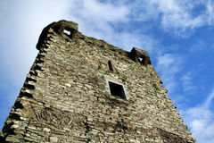 城堡墙壁和视窗 免版税图库摄影