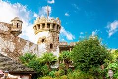 城堡墙壁塔 库存图片