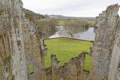 从城堡墙壁的看法,威尔特郡,英国 库存图片