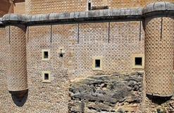 城堡墙壁 库存图片