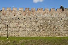 城堡墙壁 免版税图库摄影