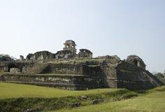 城堡墨西哥palenque废墟 库存照片