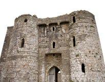城堡外部中世纪 库存照片