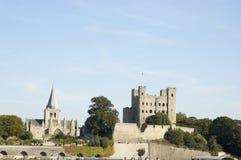 城堡大教堂罗切斯特 免版税图库摄影