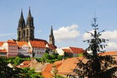 城堡大教堂meissen 免版税库存图片