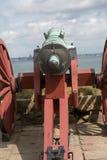 城堡大炮 库存图片