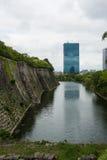 城堡大阪墙壁 库存照片