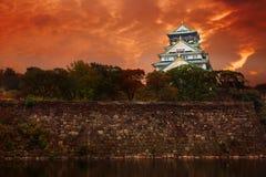 城堡大阪 免版税图库摄影