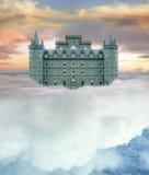 城堡天空 免版税图库摄影