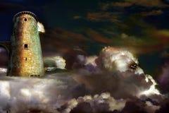 城堡天空 免版税库存照片