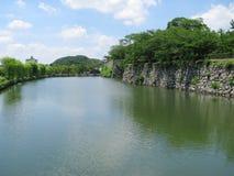城堡姬路沟槽水 图库摄影