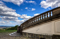 城堡孑然台阶 库存图片