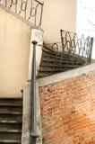城堡室外楼梯 免版税图库摄影