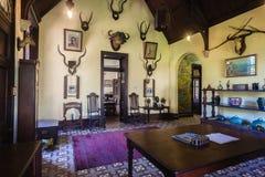 城堡家庭19世纪70年代内部历史南非 库存照片