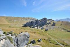 城堡小山新西兰 免版税图库摄影