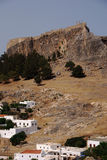 城堡小山 库存图片