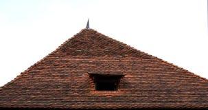 城堡屋顶、钉和窗口 免版税图库摄影