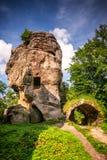 城堡岩石废墟  库存照片