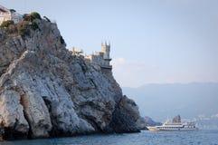 城堡嵌套燕子 免版税图库摄影