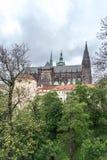 城堡布拉格st vitus 免版税库存照片